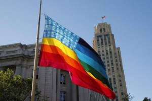 This is a recreation of one the the two flags Gilbert Baker orignally created from Pride.