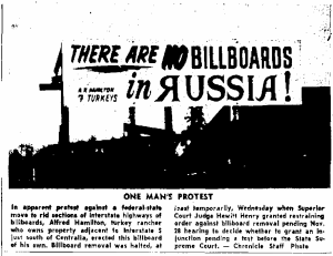 There are NO billboards in Russia!