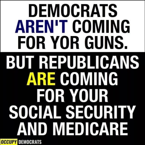"""Democrats AREN'T coming for your guns. But Republicans ARE coming for your Social Security and Medicare"""