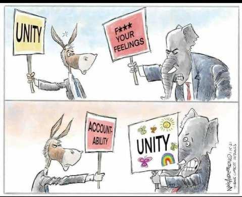 No unity without accountability.