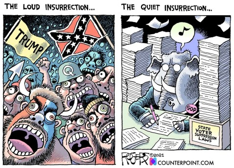 The loud insurrection vs the quiet insurrection...