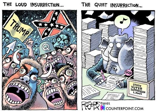 The loud insurrection vs the quiet insurrection...